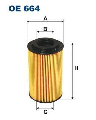 OE664 Фильтр масляный PORSCHE 911/BOXSTER/CARRERA/CAYENNE/CAYMAN 2.5-5.7