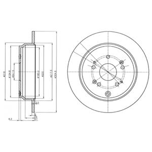 BG4064 Диск тормозной HONDA CR-V 02- задний D=305мм.