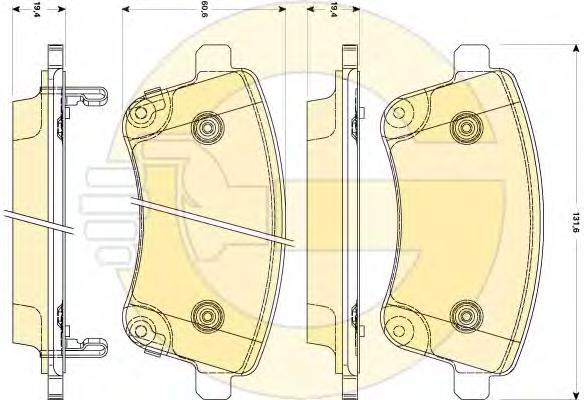 6135089 Колодки тормозные NISSAN X-TRAIL/QASHQAI/TIIDA/INFINITI FX/RENAULT KOLEOS задние