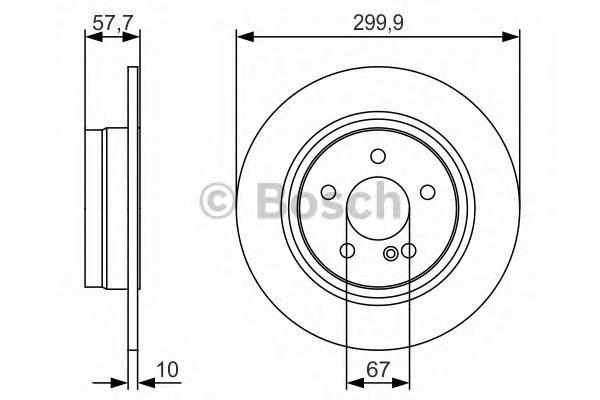 0986479S92 Диск тормозной MERCEDES W204 180-300 07- задний D=300мм.