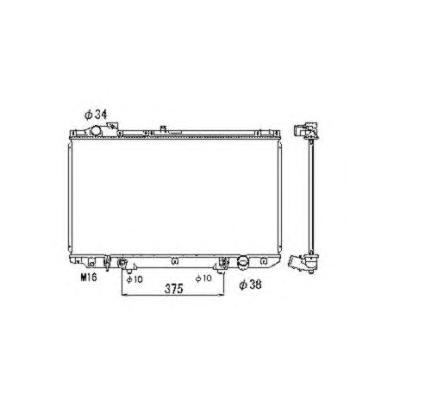 53467 Радиатор LEX GS II (S160) АКПП 97-05