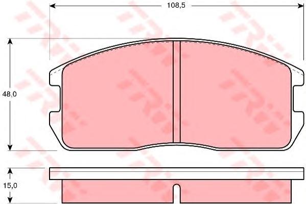 GDB365 Колодки тормозные MITSUBISHI COLT/LANCER 1.2-1.5 84-92 передние