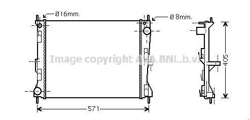 DN2235 Радиатор системы охлаждения NISSAN: MICRA (K12) 1.5 dCi 03 -   RENAULT: CLIO Grandtour (KR0/1_) 1.2 16V/1.2 16V (KR0P)/1.