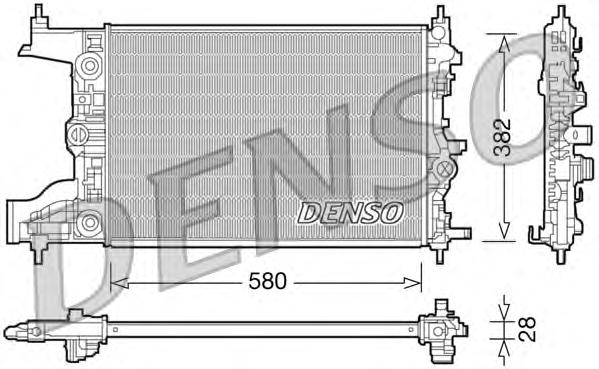 DRM20097 Радиатор OPEL ASTRA J 1.6 M/T 09-