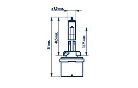48041 Лампа галогенная H27W/1 12V 27W PG13