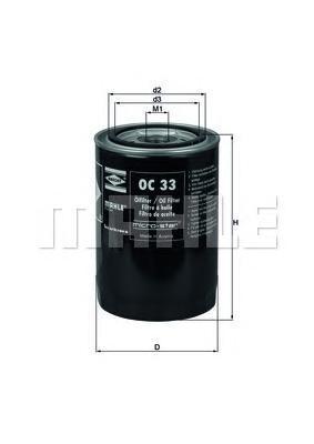 OC33 Фильтр масляный OPEL RECORD DIESEL