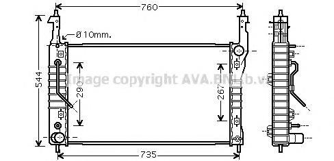 OLA2424 Радиатор системы охлаждения CHEVROLET: CAPTIVA 2.0 D/2.0 D 4WD 06- OPEL: ANTARA 2.0 CDTI/2.0 CDTI FWD 06- VAUXHALL: ANTA