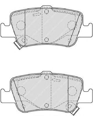 FDB4048 Колодки тормозные TOYOTA AURIS 1.33-2.2 07- (Великобритания) задние
