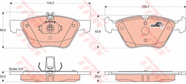 GDB1215 Колодки тормозные MERCEDES W210/211/208 200-320 передние