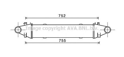 MSA4525 Интеркулер MB W204 2.2D/3.0D 08-