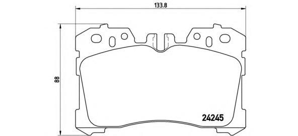 P83075 Колодки тормозные LEXUS LS460-600 06- передние