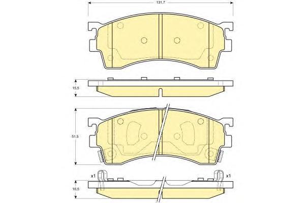 6132099 Колодки тормозные MAZDA 323/626/PREMACY 92- передние