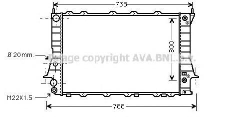 AIA2078 Радиатор системы охлаждения AUDI: 100 (44, 44Q, C3) 2.3 E 82 - 90 , 100 (4A, C4) 2.0/2.0 E/2.0 E 16V/2.0 E 16V quattro/2