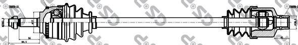 250021 Привод в сборе RENAULT MEGANE I 1.4-2.0 96-03 прав. +ABS JN1/3/JC5