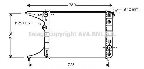 OLA2201 Радиатор OPEL OMEGA 2.0 A/T 94-00
