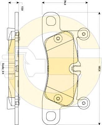 6118769 Колодки тормозные PORSCHE CAYENNE 3.0-4.8 (1KP) 10- задние