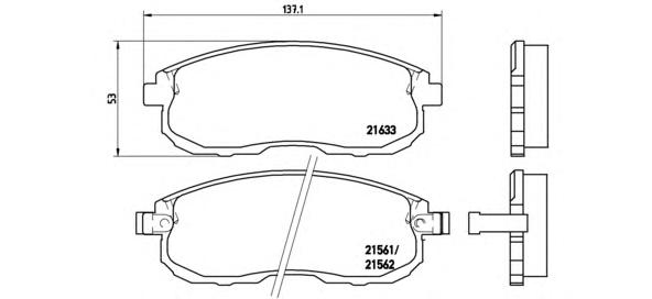 P56021 Колодки тормозные NISSAN JUKE/MAXIMA/TEANA/TIIDA/SUZUKI SX4 перед. б/инд.износа