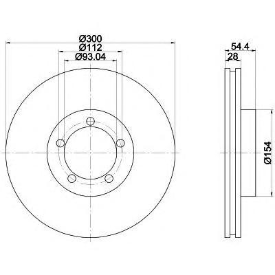 8DD355113281 Диск тормозной FORD TRANSIT 06- передний вент.D=300мм.