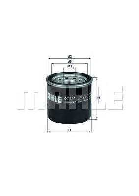 oc215 Фильтр масляный DAEWOO Matiz (98-) CHEVROLET Aveo (03-) (1.2) MAHLE