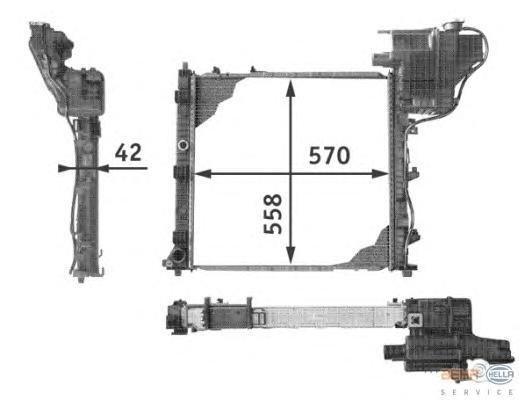 8MK376721651 Радиатор MB V638 2.0-2.8 97-03