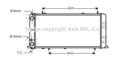 AI2051 Радиатор AUDI 100 1.8 85-92