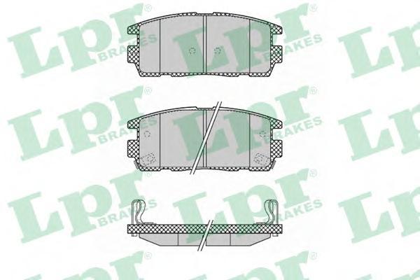 05P1323 Колодки тормозные CHEVROLET CAPTIVA/OPEL ANTARA 2.4/3.2 06- задние