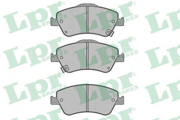 05P1316 Колодки тормозные TOYOTA AURIS 1.33-2.2 07- (Великобритания) передние