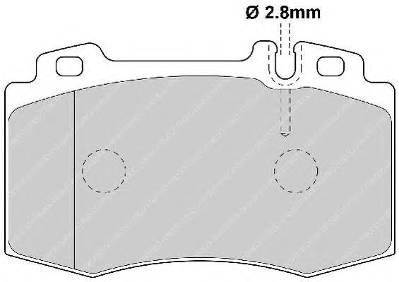 FDB1426 Колодки тормозные MERCEDES-BENZ W163 9805/W220 9805/W129 передние
