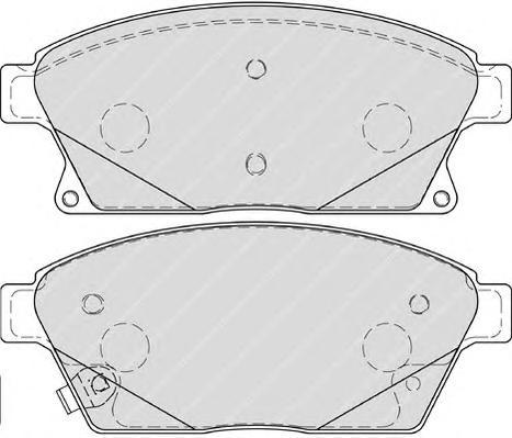 "FDB4264 Колодки тормозные CHEVROLET CRUZE/OPEL ASTRA J 16"" 10- передние"