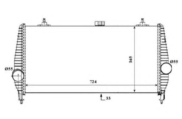 30194 Интеркулер PSA C5/C6/407/607 2.2/2.7HDI