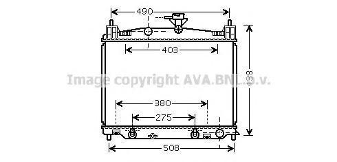 MZ2215 Радиатор системы охлаждения MAZDA: 2 1.3/1.5 07 -
