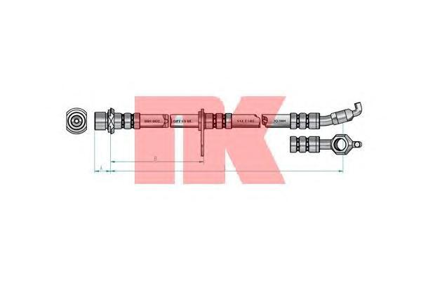 8545139 Шланг тормозной TOYOTA RAV 4 2.0 94-00 передний прав.
