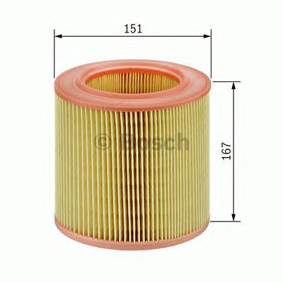 F026400027 Фильтр воздушный AUDI A6 2.0 TDI/TFSI