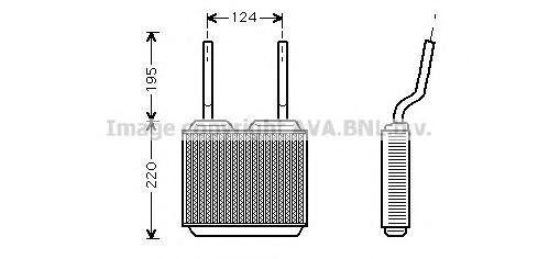 OL6132 Радиатор отопителя OPEL: ASTRA F (56_, 57_) 1.4/1.4 Si/1.4 i/1.4 i 16V/1.6/1.6 Si/1.6 i/1.6 i 16V/1.7 D/1.7 TD/1.7 TDS/1.