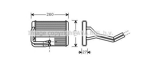 HY6122 Радиатор отопителя HYUNDAI MATRIX 1.5-1.8 02-