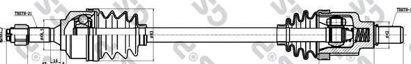 210181 Привод в сборе CITROEN C2/C3 I 1.1-1.4 02- лев.