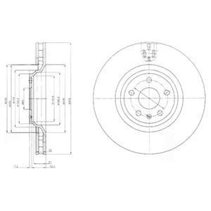 BG9054 Диск тормозной 1 шт в упаковке