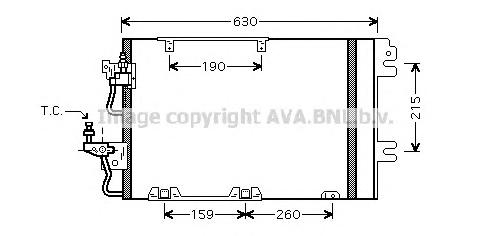 ol5367 Радиатор кондиционера