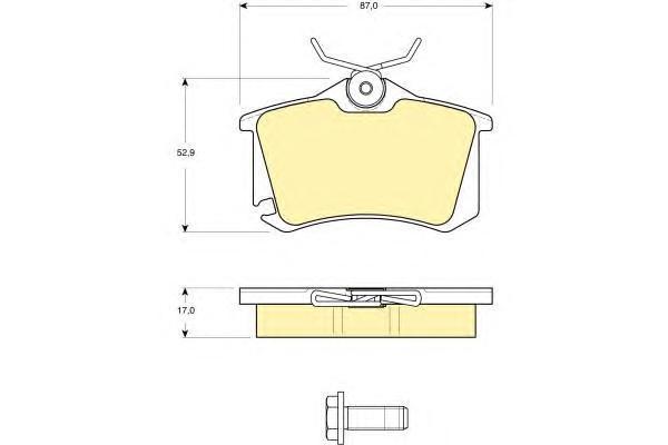 6115781 Колодки тормозные AUDI 96-/CITROEN 99-/RENAULT 98-/PEUGEOT 00-/VW 95- задние