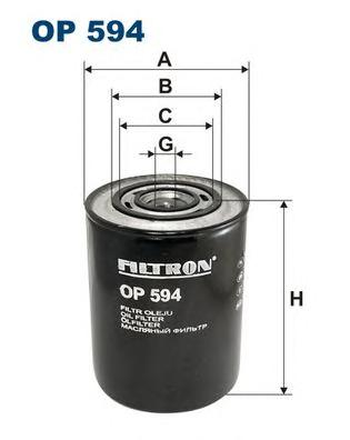 OP594 Фильтр масляный FIAT DUCATO/CITROEN JUMPER 2.4D-2.8D