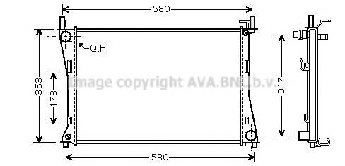 FDA2325 Радиатор FORD FIESTA/FUSION 1.25-1.6 M/T 01-