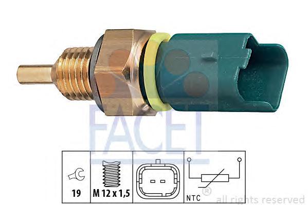 73276 Датчик температуры охлаждающей жидкости CITROEN: BERLINGO (MF) 1.1 i (MFHDZ)/1.4/1.4 GNC/1.4 bivalent/1.6/1.6 16V (MFNFU)/