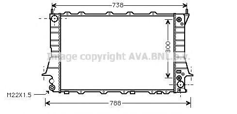 AIA2084 Радиатор AUDI A100/A6 2.6/2.8 90-97