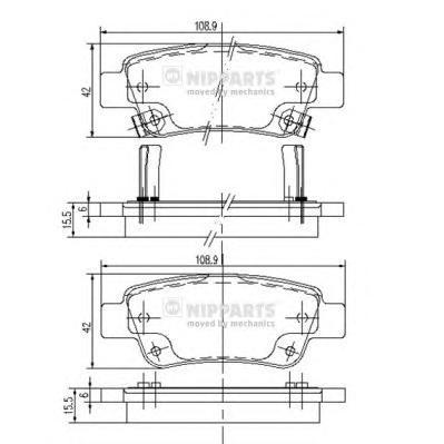 N3614019 Колодки тормозные HONDA CR-V III 07- задние