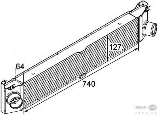 8ML376746021 Интеркулер FIAT DUCATO/CITROEN JUMPER/PEUGEOT BOXER 2.2HDi 06-