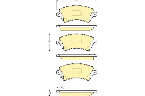 6132881 Колодки тормозные TOYOTA COROLLA (E12) 1.4/1.6/1.8/2.0 0002/02 передние