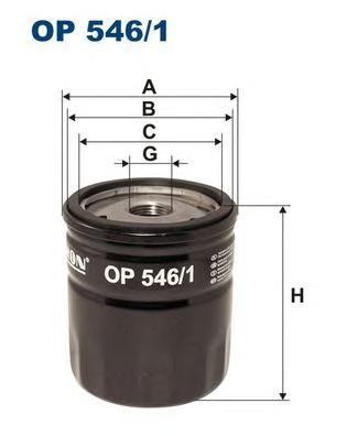 OP5461 Фильтр масляный FORD C-MAX/FOCUS II/MONDEO 1.8 TDCI