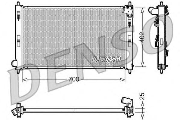 DRM45032 Радиатор MITSUBISHI OUTLANDER 2.0 / PEUGEOT 4007 2.2 HDI M/T 07-