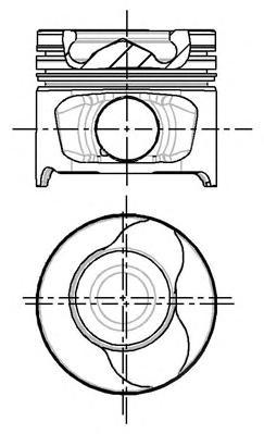 8712340710 Поршень RENAULT LOGAN 0,5mm(комплект)