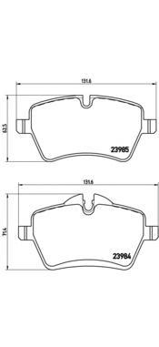 P06051 Колодки тормозные MINI ONE/COOPER 1.6 03- передние